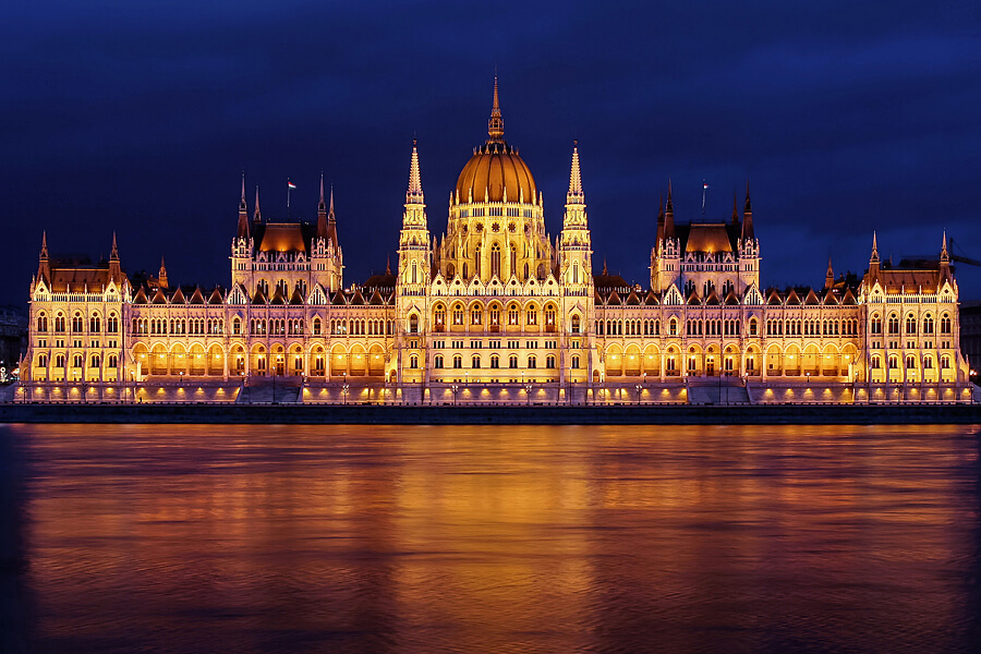 Hungarian Parliament Building by Night