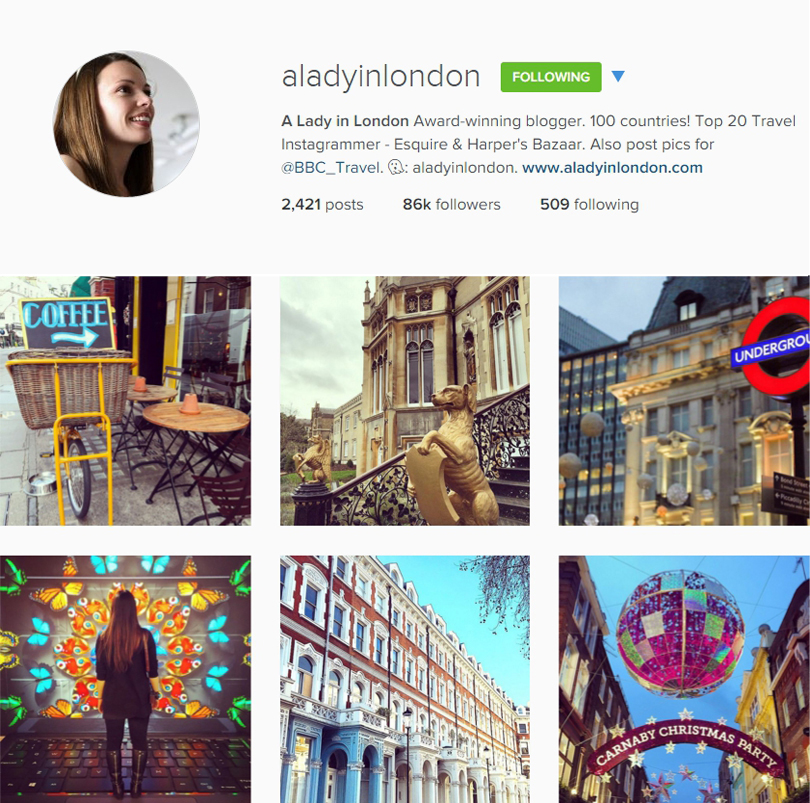 A Lady in London, one of our favourite Instagram accounts
