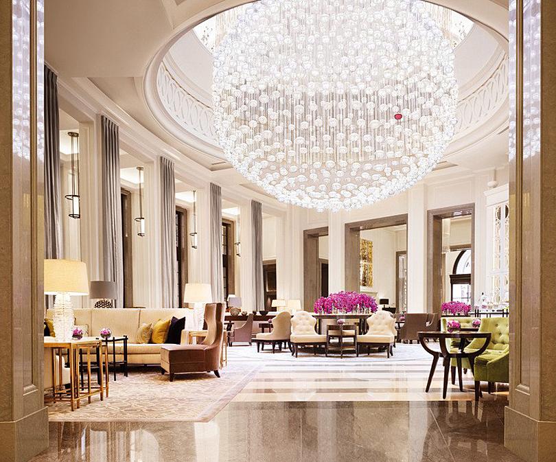 The Lobby Lounge Crystal Chandelier Corinthia Hotel London