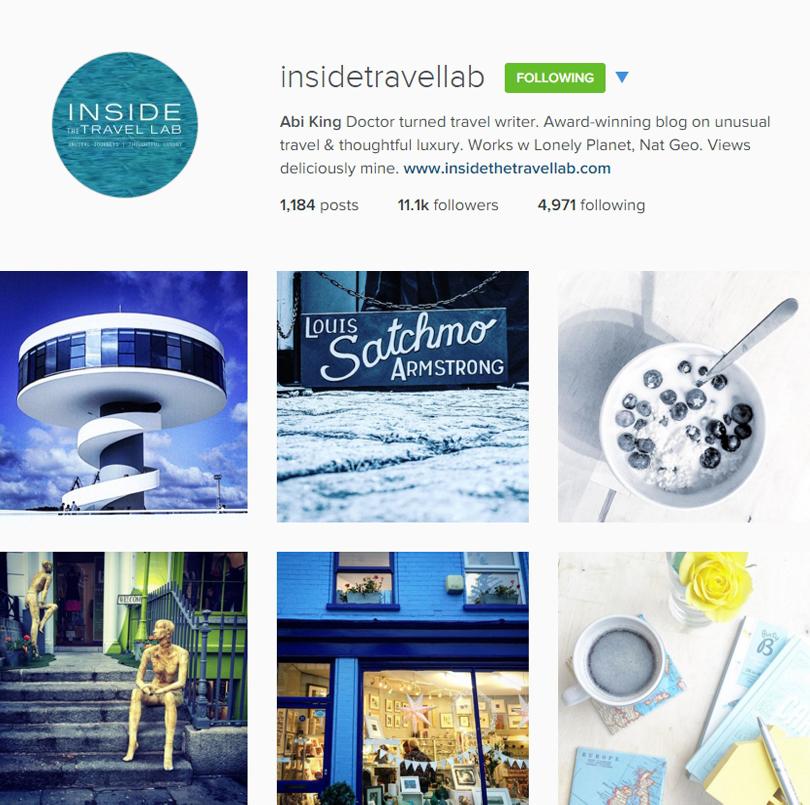 Inside the Travel Lab on Instagram