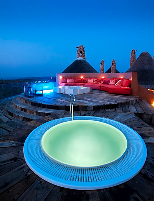 Roof top jacuzzi, Observatory Bush Villa, South Africa
