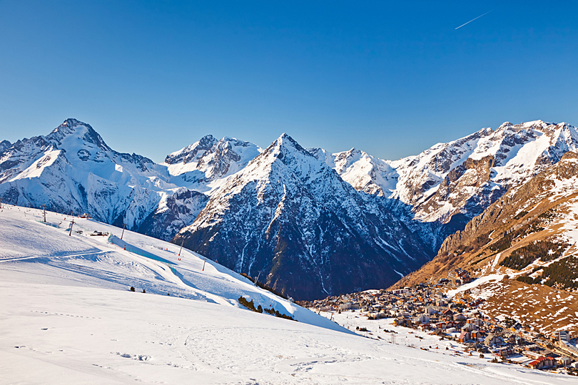 View of the French Alps