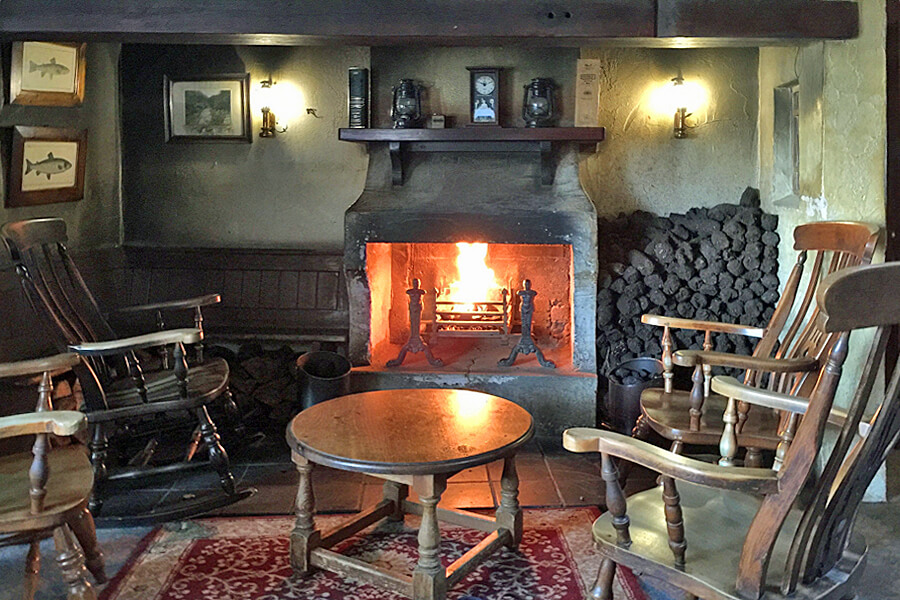 Real fires at Bushmills Inn, Northern Ireland ( a great place to stay in The Causeway coast)