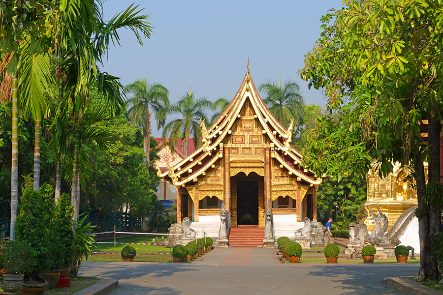 Wat Phra Singh temple complex in Chiang Mai, Thailand