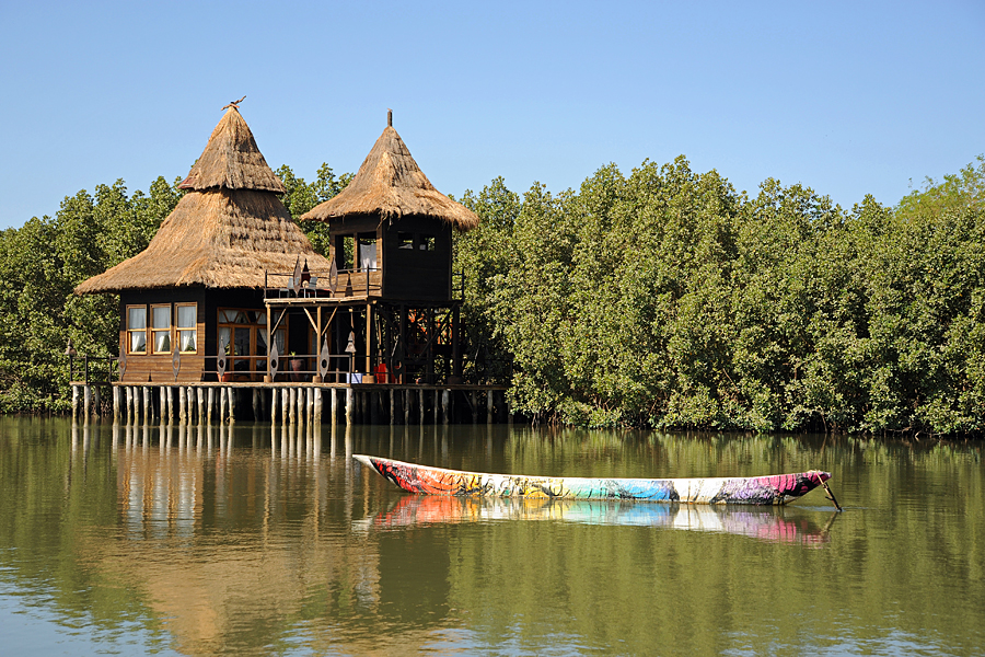 Stilted Lodge at Mandina Lodges, Makasutu Forest, The Gambia