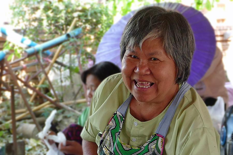 Smiles at the craft market Chiang Mai, Thailand