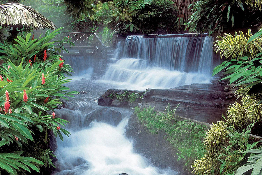 Hot springs waterfall, Arenal, Costa Rica