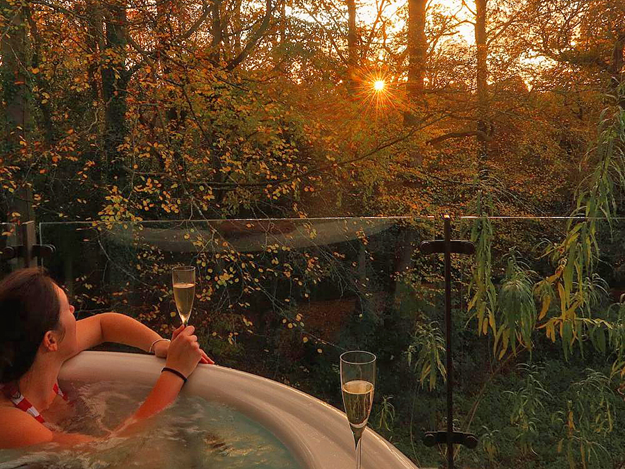 Enjoy a stay at one of Chewton Glen Treehouses for a very romantic escape