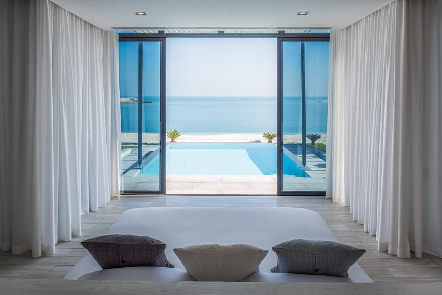 View from the one bedroom Beach Villas, Zaya Nurai Island