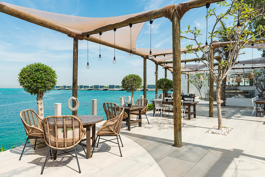 Hooked. one of a number of restaurants on Zaya Nurai Island, Abu Dhabi