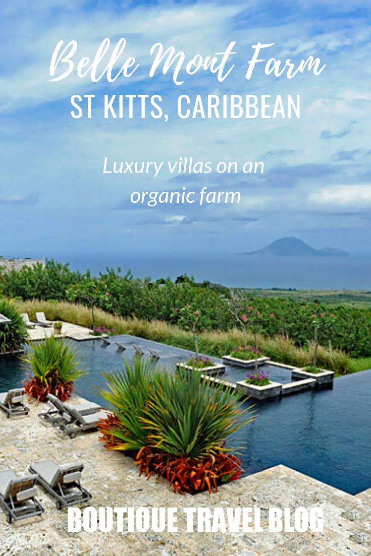 Belle Mont Fram, St Kitts   Luxury villas and cottgaes on an organic farm on the lovely Caribbean island of St Kitts #StKitts #LuxuryHotel