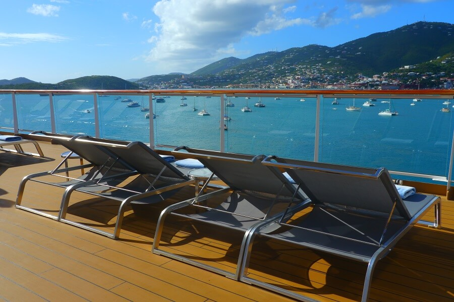 On deck Viking Sea