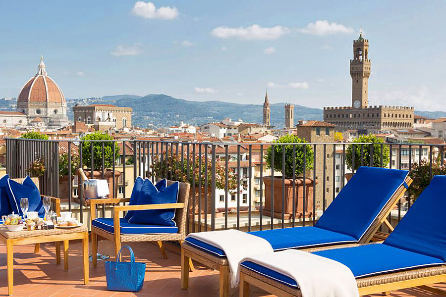 Hotel Lungarno rooftop suite, Florence