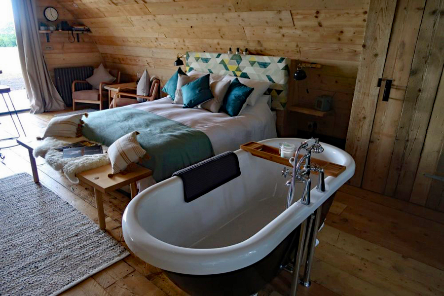 Glamping at The Pigsty near Winchester, Hampshire